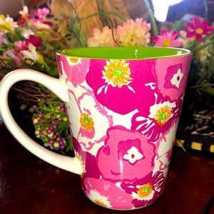 Lilly Pulitzer Pink & Green Coffee Mug